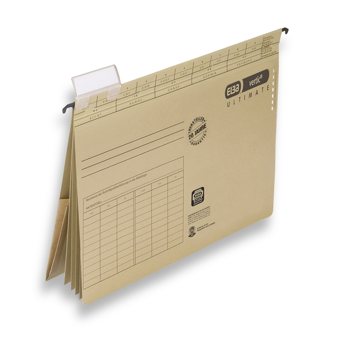 ELBA vertic ULTIMATE, Suspension file with 4 dividers, A4, 240 gsm card, brown, Picture 2
