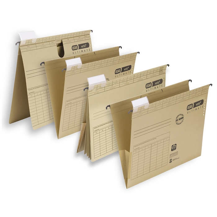 ELBA vertic ULTIMATE, Suspension file with 4 dividers, A4, 240 gsm card, brown, Picture 3