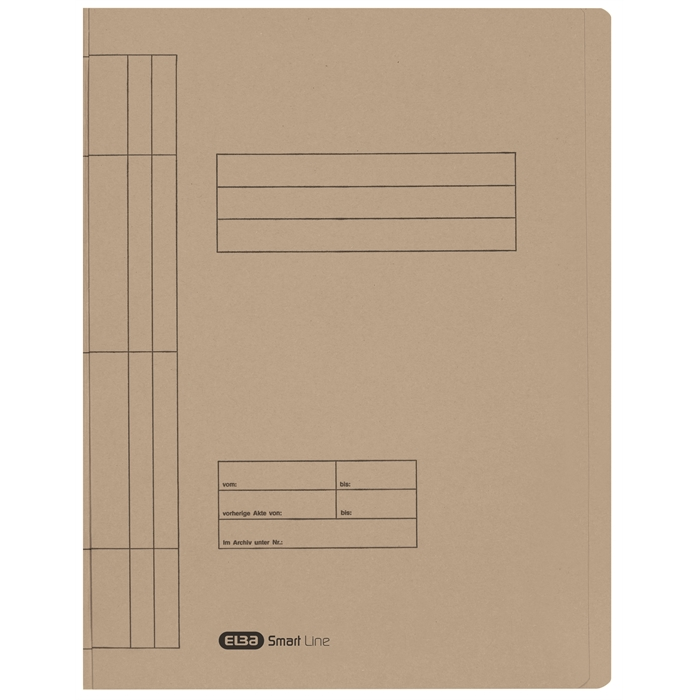 ELBA Smart Line Flatbar file, with metal fastener for commercial and official filing, 250 gsm card, gris, Picture 1