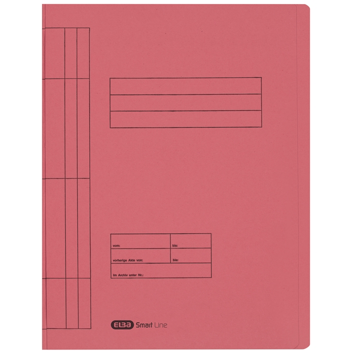 Picture of ELBA Smart Line Flatbar file, with metal fastener for commercial and official filing, 250 gsm card, rouge