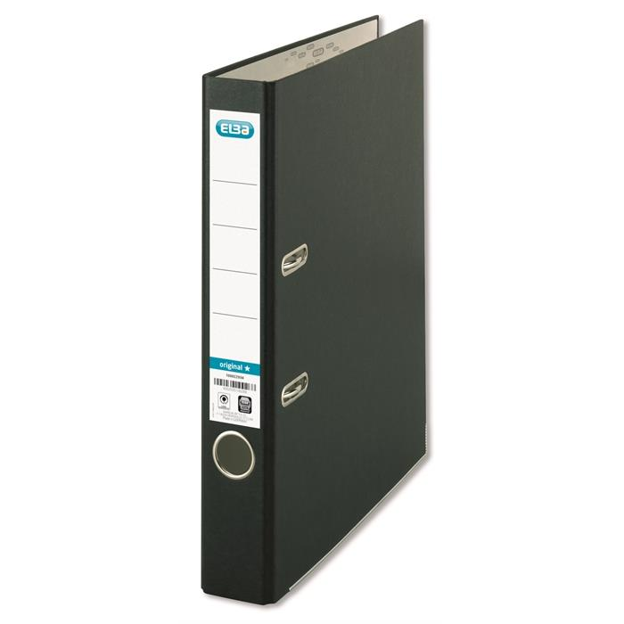 "Picture of ELBA Lever Arch File ""smart Original"" A4 Spine 50 mm 2 Rings Pp/Paper, glued spine label, Black"