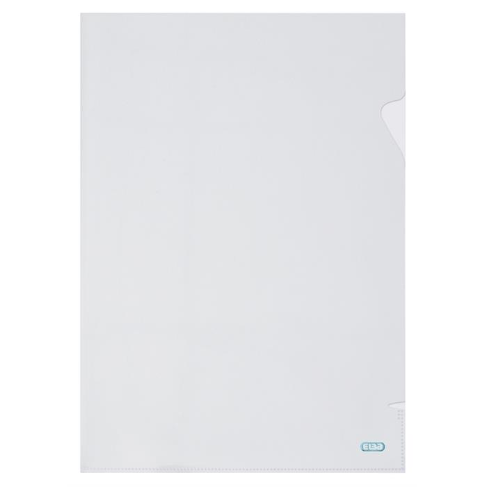 Bag of 10 L-Folders Elba Shine A4 Polypropylene 120µ Smooth Clear, Picture 1