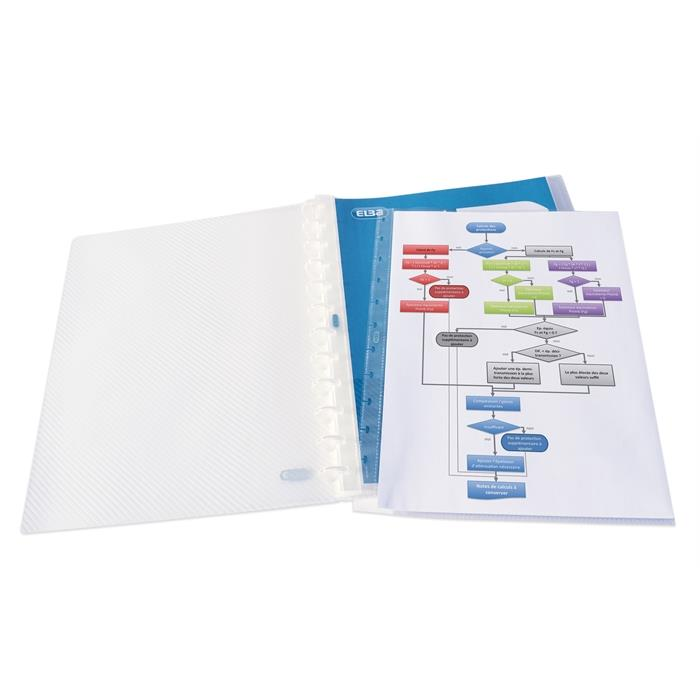 Picture of Display Book with removable pockets Variozip Elba Hawaï A4 30 pockets Clear