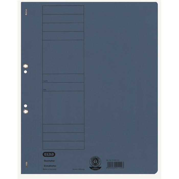 Picture of ELBA Smart Line Eyelet folder,full cover, with metal fastener, 250 gsm card, blue