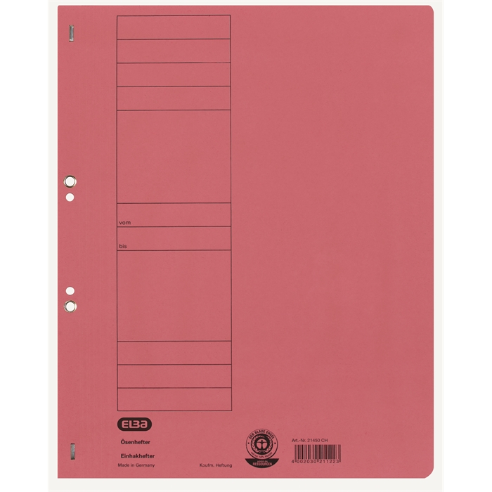 Picture of ELBA Smart Line Eyelet folder,full cover, with metal fastener, 250 gsm card, red