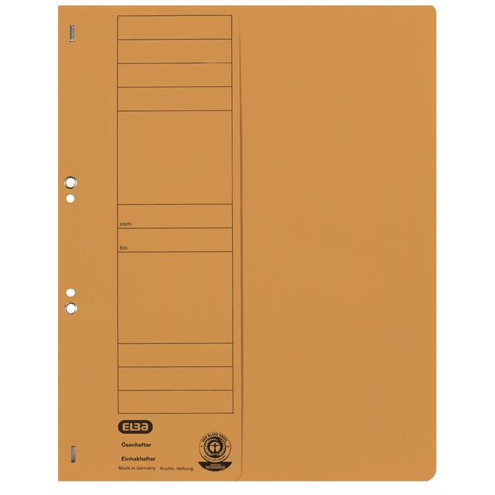 Picture of ELBA Smart Line Eyelet folder, half cover, with metal fastener for commercial filing, 250 gsm card, yellow