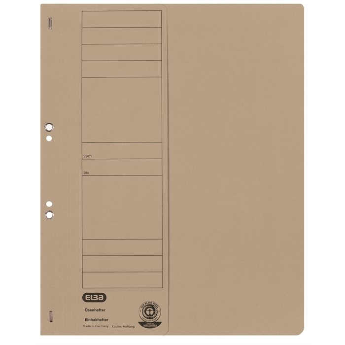 Picture of ELBA Smart Line Eyelet folder, half cover, with metal fastener for commercial filing, 250 gsm card, grey