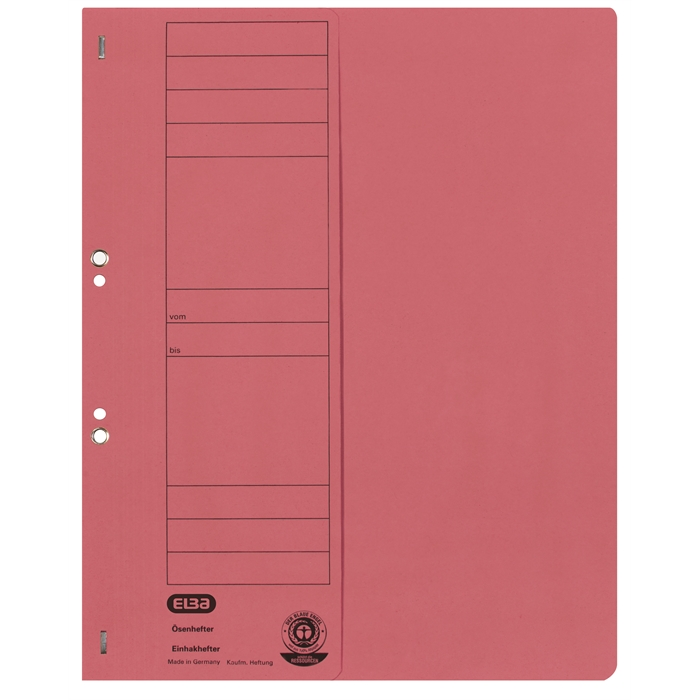 Picture of ELBA Smart Line Eyelet folder, half cover, with metal fastener for commercial filing, 250 gsm card, red