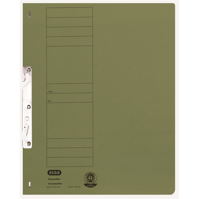 Picture of ELBA Smart Line In-hook folder, full cover, with metal fastener, 250 gsm, green
