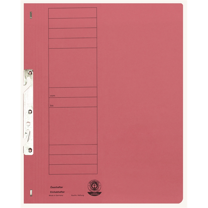 Picture of ELBA Smart Line In-hook folder, full cover, with metal fastener, 250 gsm, red