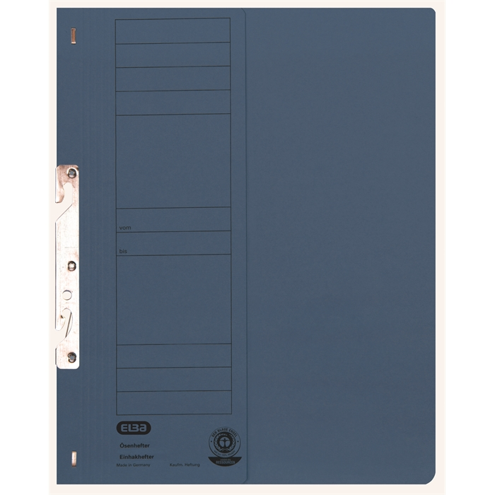 Picture of ELBA Smart Line In-hook folder, half cover, with metal fastener for commercial filing, 250 gsm, blue