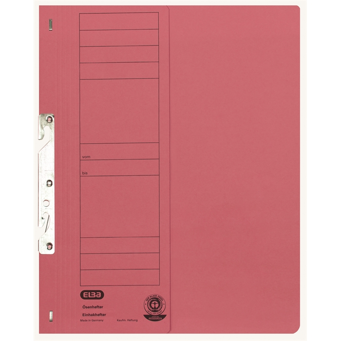 Picture of ELBA Smart Line In-hook folder, half cover, with metal fastener for commercial filing, 250 gsm, red