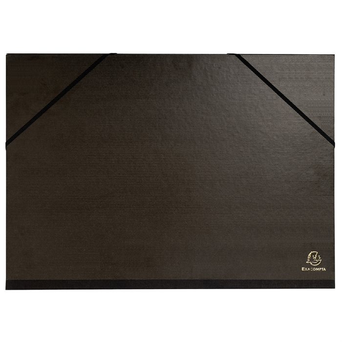Picture of Portfolio with elastic straps glossy black paper 32x45cm - A3-Black