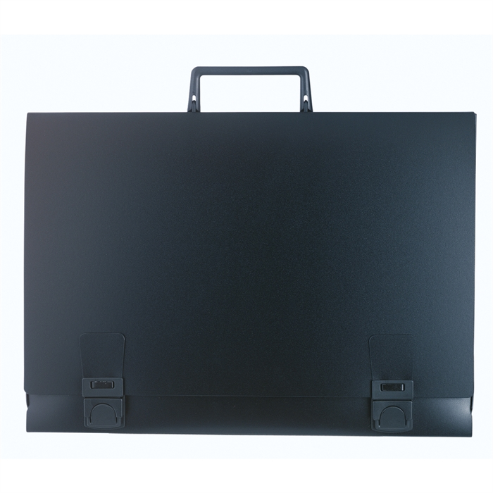 Picture of Portfolio suitcase with handle Spine 28 mm rigid polypropylene 1200 micron - A3-Black