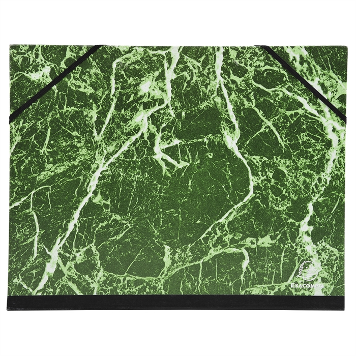 Picture of Portfolio with elastic straps glossy marbled paper 28x38cm - B4-
