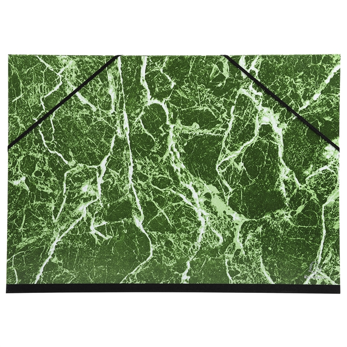 Picture of Portfolio with elastic straps glossy marbled paper 32x45cm - A3-