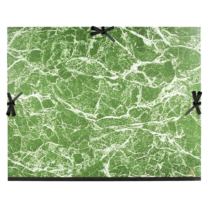 Picture of Portfolio with ribbons glossy marbled paper 61x76cm-