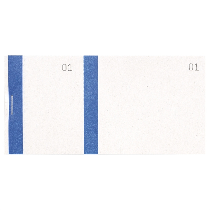 Picture of Salesman pads 6,6x13,5cm double numering coloured edge 100 sheets-Blue