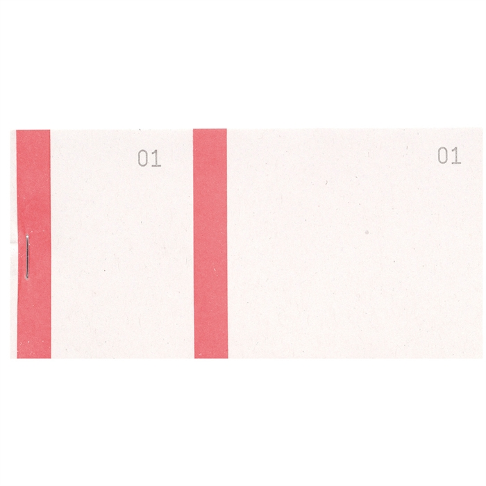 Picture of Salesman pads 6,6x13,5cm double numering coloured edge 100 sheets-