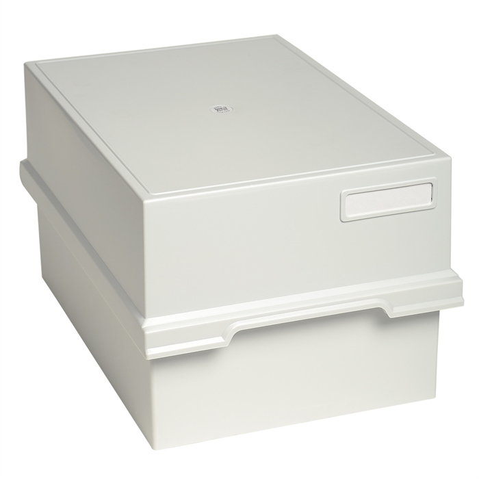 Picture of Card index tray with lid for 1000 cards A5