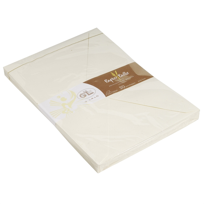 Picture of 20 straw paper envelopes 162x229mm.