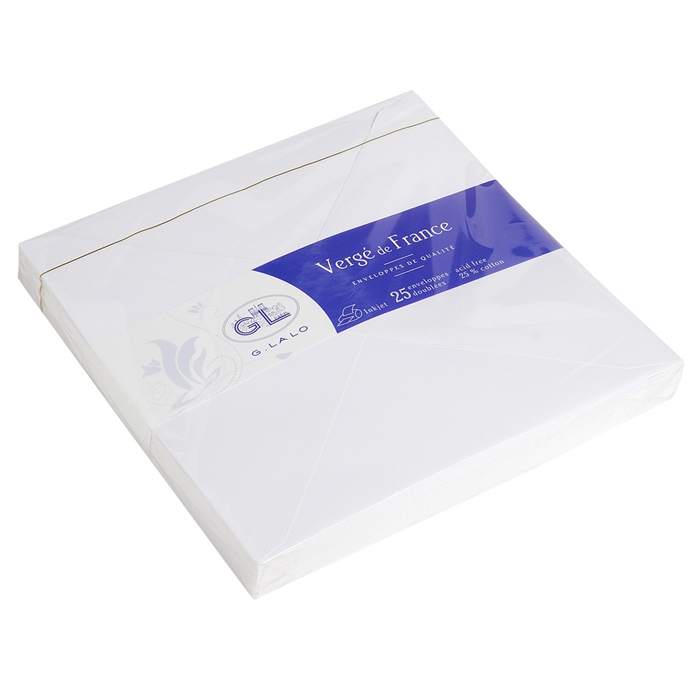 Picture of 25 vergé de France tissue-lined envelopes 160x160mm.