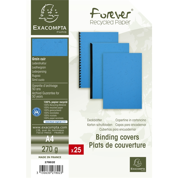 EXACOMPTA 27802E - Pack of 25 covers FOREVER A4 270g red, Picture 4