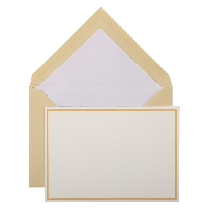 Picture of bordered pack: 10 cards and 10 tissue lined envelopes.