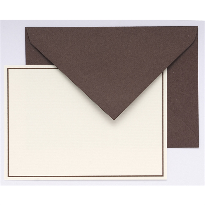 EXACOMPTA 32614L - Bordered pack: 10 cards and 10 tissue lined envelopes., Picture 1