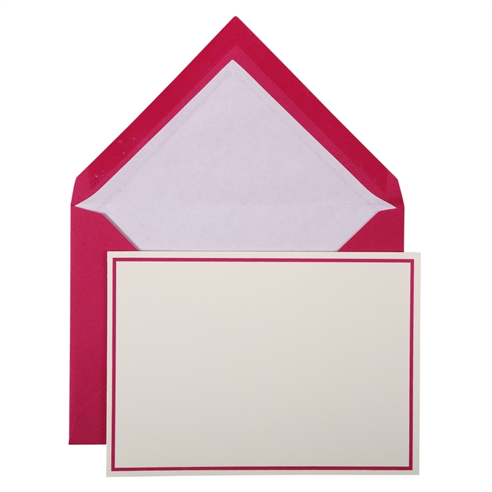EXACOMPTA 32615L - Bordered pack: 10 cards and 10 tissue lined envelopes, Picture 1