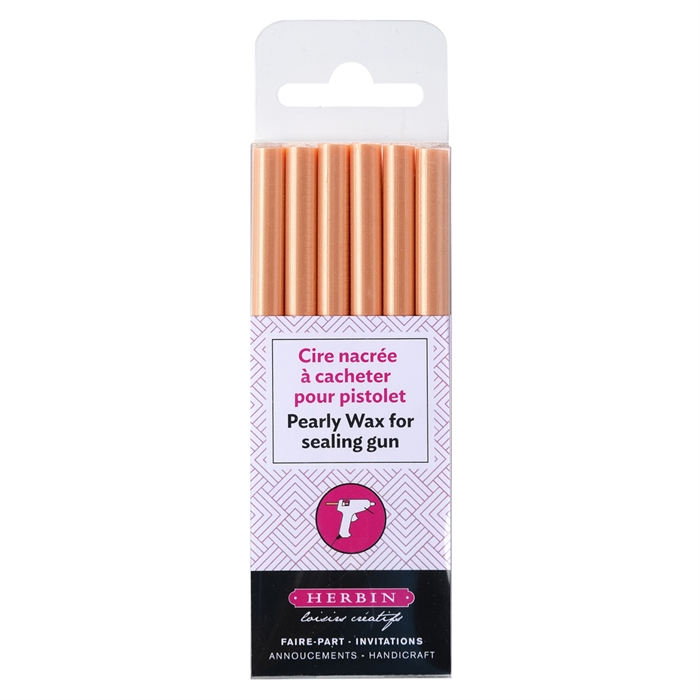 Picture of EXACOMPTA 35957T  - Pack of 6 pearly wax gun sticks