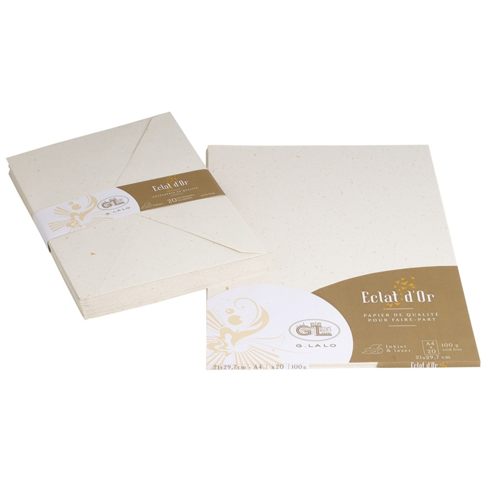 EXACOMPTA 43700L - 20 sheets, Spark of gold A4 100g, Picture 3