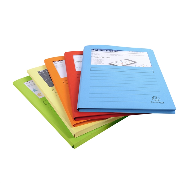 EXACOMPTA 50550E - Pack of 50 window folders expandable A4 SUPER, Picture 7