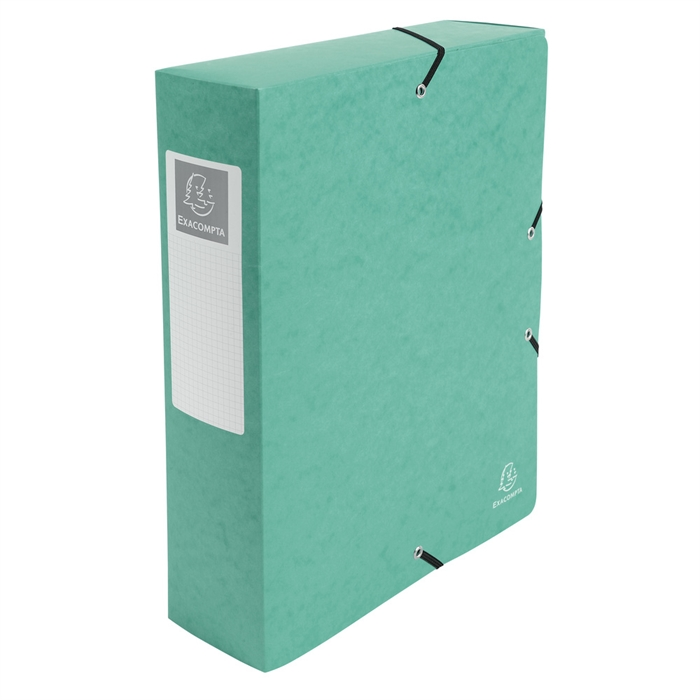 Filing Box Pressboard 600g A4 80mm Spine green., Picture 7