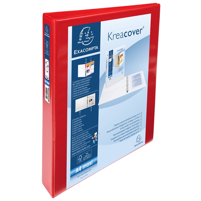 "Picture of ""Kreacover PP Ring Binder, A4 Maxi, 4 D Rings, 47mm spine ""."