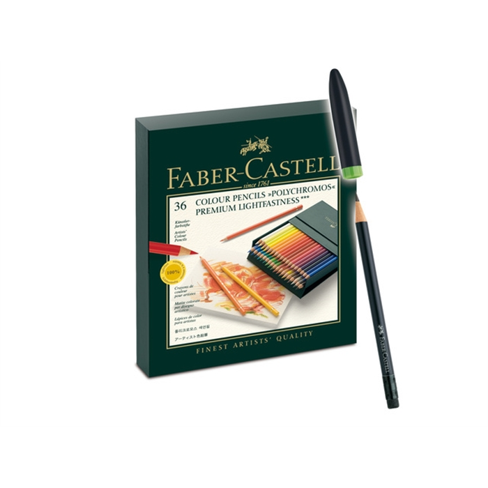 Picture of Crayons de couleur Faber-Castell Polychromos ass. 36 pcs