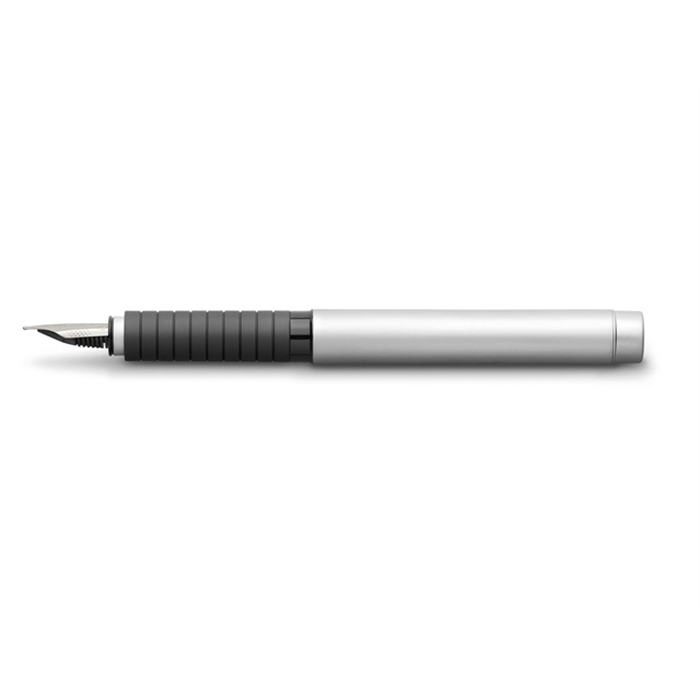 Picture of Stylo plume Faber Castell Basic Metal chrome mat EF