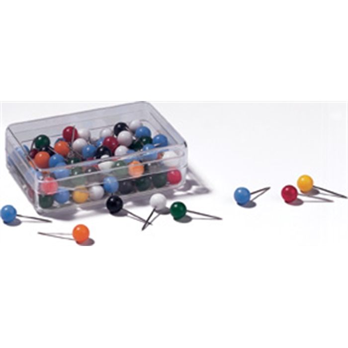 Picture of Assorted round pushpins, size: 18 mm, 100 pieces