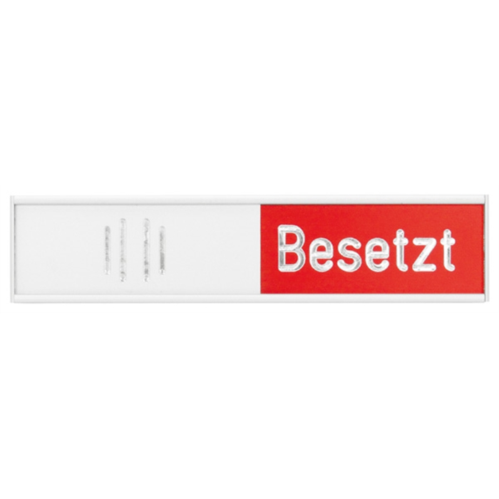 Picture of German Manually adjustable occupancy panel. silver, 102 x 27.4 mm, red/green