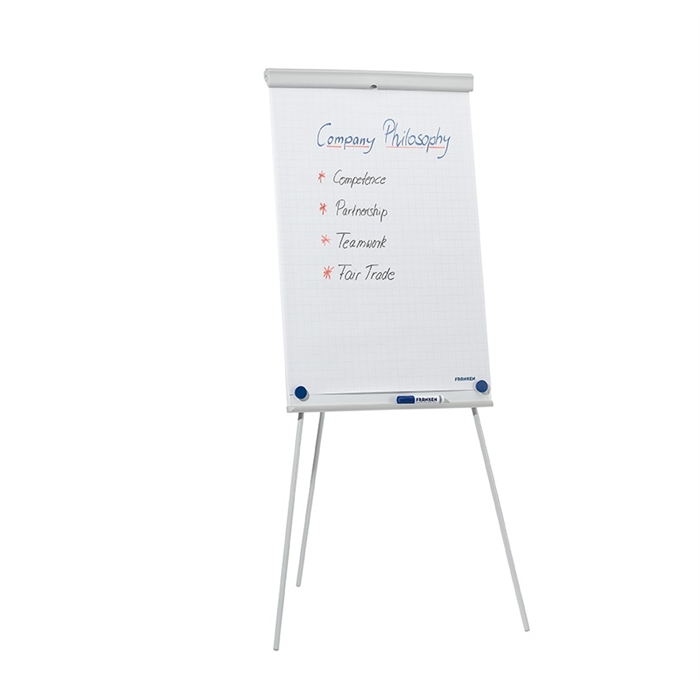 Picture of FRANKEN EL-FC20 - Flipchart easel X-tra!Line Basic & Standard, 68x105 cm, robust tripod, Light grey