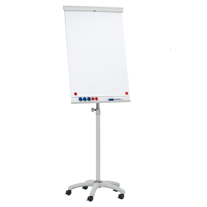 Picture of FRANKEN EL-FC31 - Flipchart easel X-tra!Line mobile, 13 kg, 68x105 cm, star base (Ø 60 cm) with 5 lockable castors, Light grey