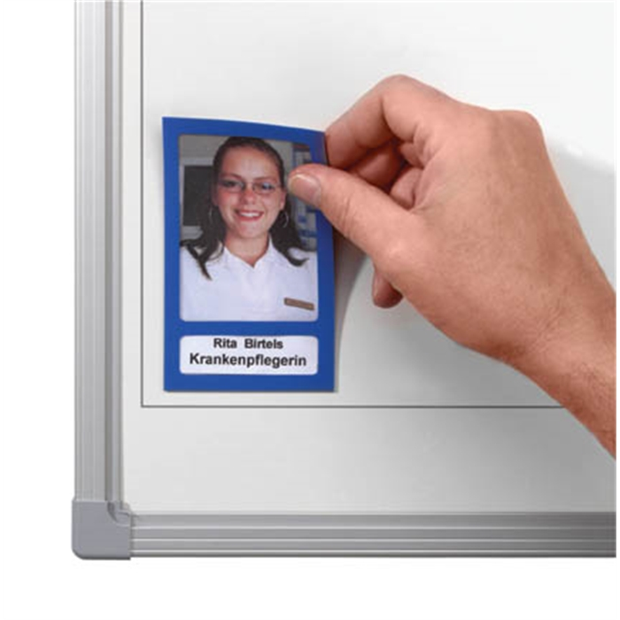 Picture of Photo Holders. Size:  (W x H): 72 x 115 mm. Colour: blue