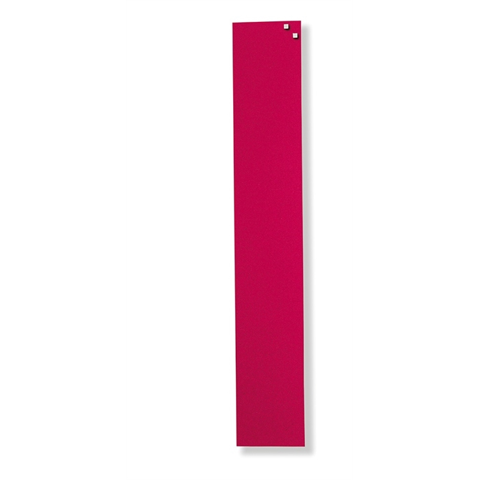 Picture of Magnetic Glass Board, Dimensions: 10 x 60 cm. Color: red