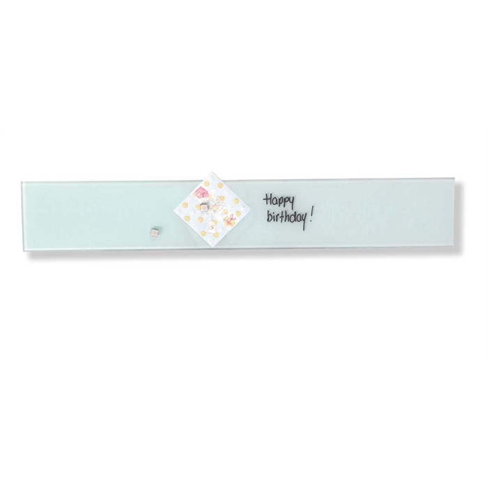 Picture of Magnetic Glass Board, Dimensions: 10 x 60 cm. Color: white