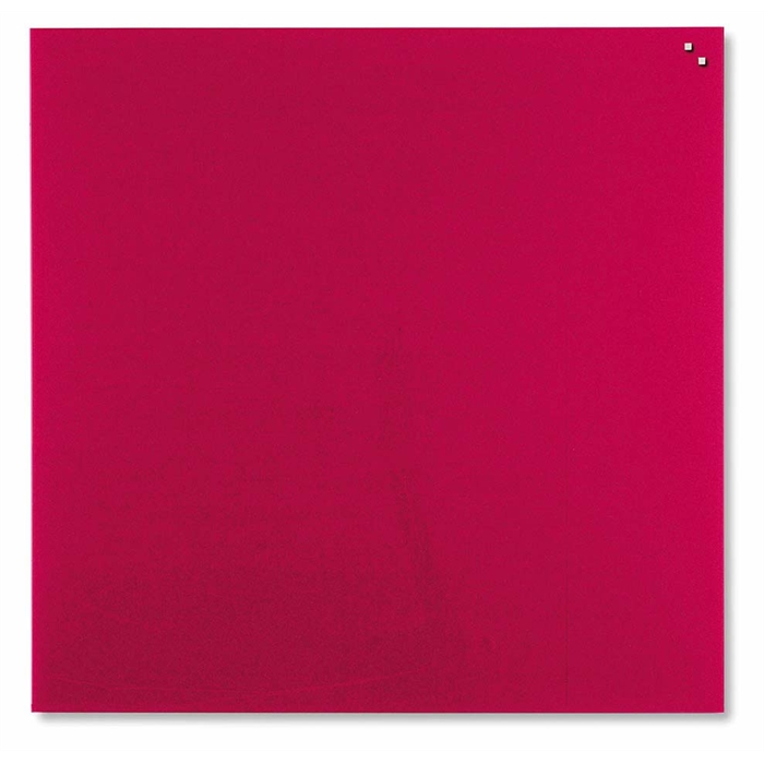 Picture of Magnetic Glass Board, Dimensions: 45 x 45 cm. Color: red