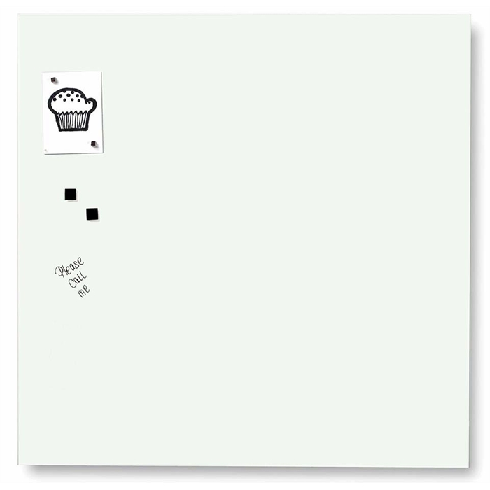 Picture of Magnetic Glass Board, Dimensions: 45 x 45 cm. Color: white