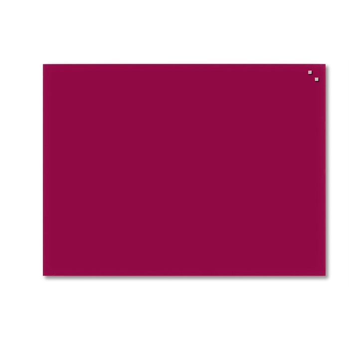 Picture of Magnetic Glass Board: Dimensions: 60 x 80 cm. Color: red