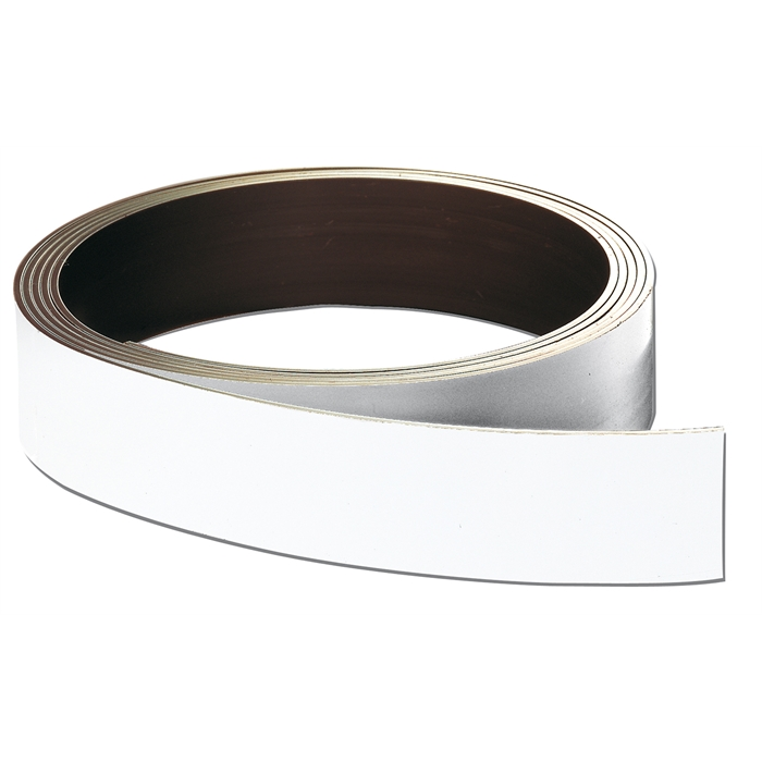 Picture of Store labels, magnetic strip, 20 x 10000 mm, thickness 0.8 cm, white
