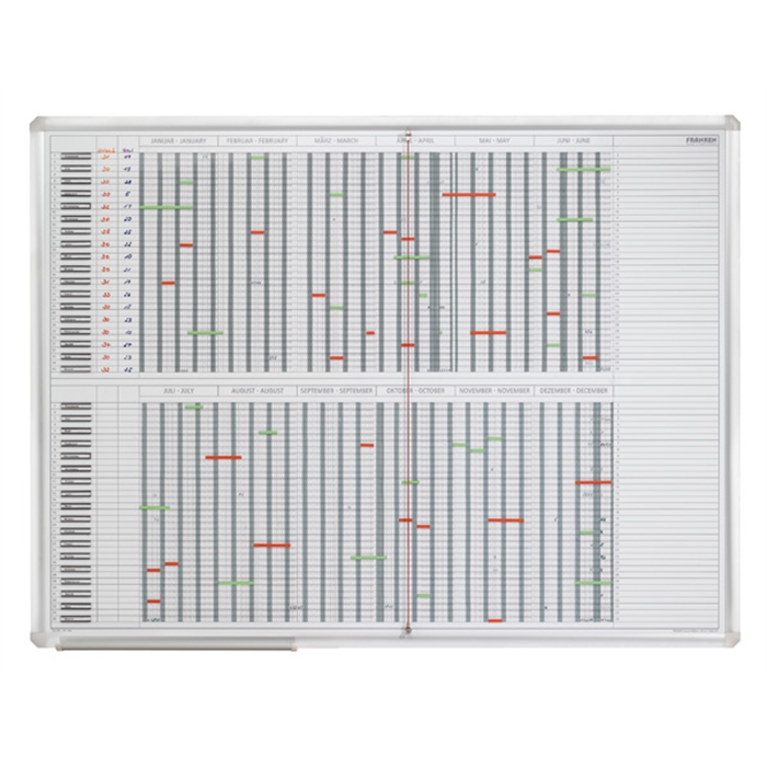 Picture of Operational Planner, 35 Positions, day grid 4 x 10 mm, 120 x 90 cm (W x H)
