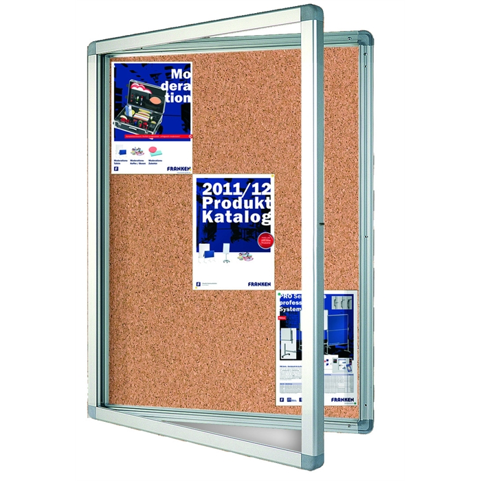 Picture of ECO Outdoor Display Cases, 15 x A4, 117.5 x 99 x 4.5 cm, felt, cork